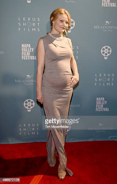 Emilie de Ravin attends the Napa Valley Film Festival Gala at the Lincoln Theater on November 12 2015 in Yountville California