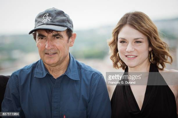 Emilie Dequenne and Albert Dupontel attend the 10th Angouleme FrenchSpeaking Film Festival on August 22 2017 in Angouleme France