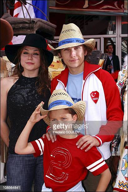 Emilie Dequenne and Lorant Deutsch in Paris France on July 13th 2004