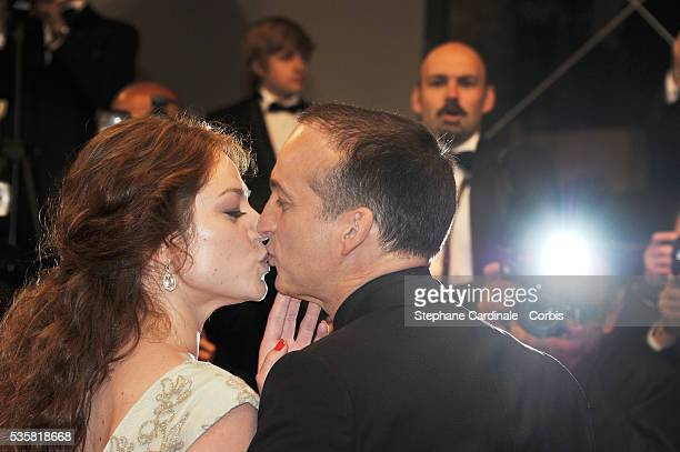 "Emilie Dequenne and Michel Ferracci at the premiere for ""The Angel's share"" during the 65th Cannes International Film Festival."