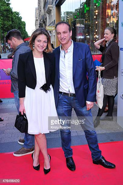 Emilie Dequenne and Michel Ferracci attend the 4th Champs Elysees Film Festival Opening Ceremony and Valley of Love Premiere at Publicis Champs...