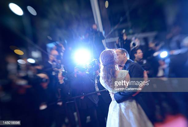 Emilie Dequenne and Michel Ferracci attend 'The Angels' Share' Premiere during 65th Annual Cannes Film Festival at Palais des Festivals on May 22...