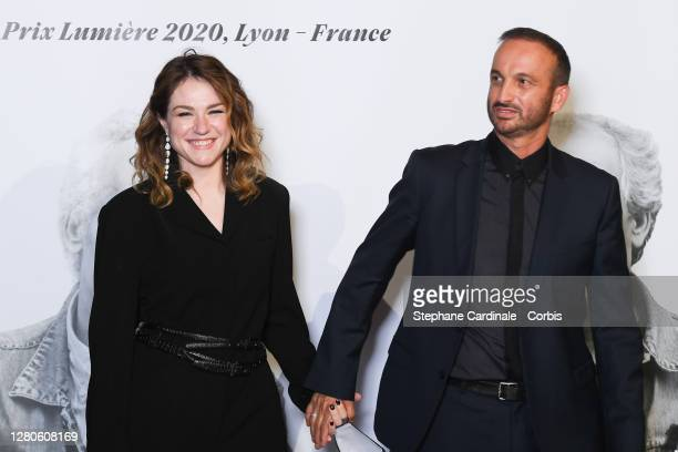 Emilie Dequenne and Michel Ferracci attend the tribute to the brothers Jean-Pierre Dardenne and Luc Dardenne at the 12th Film Festival Lumiere In...