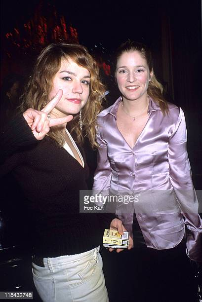 Emilie Dequenne and Natacha Regnier during Champagne Ruinart Black and Red St Valentine Party - February 1, 2006 at Private Hotel Avenue Foch in...