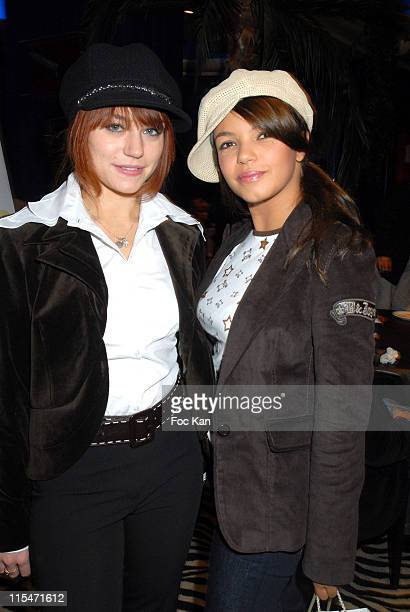 Emilie Dequenne and Severine Ferrer during Les Fous Du Roi Paris Screening Cocktail Party at Planet Hollywood in Paris France