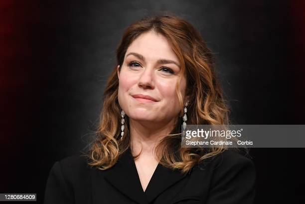 Emilie Dequenne on stage, during the tribute to the brothers Jean-Pierre Dardenne and Luc Dardenne at the 12th Film Festival Lumiere In Lyon on...