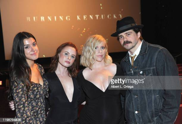 Emilie Dhir Augie Duke Bethany Brooke Anderson and Nathan Sutton attend the Premiere Of Burning Kentucky held at Fine Arts Theatre on February 2 2020...