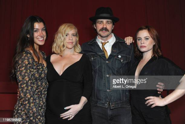Emilie Dhir Bethany Brooke Anderson Nathan Sutton and Augie Duke attend the Premiere Of Burning Kentucky held at Fine Arts Theatre on February 2 2020...
