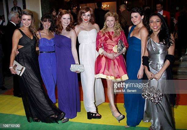 Emilie Fleming Lauren Samuels Sophie Evans Jessica Robinson Bronte Barbe Dani Rayner Steph Fearon attend the press night for Wizard Of Oz at the...