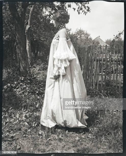 Emilie Floege in a reform dress Weissenbach Lake Attersee Photograph by Gustav Klimt 1906/07 Emilie Flöge in einem GartenKleid Aus der Serie von zehn...
