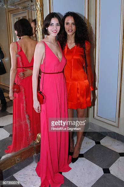 Emilie Fouilloux Jewelry Van Cleff Arpels and Noemie Lenoir attend the Sidaction Gala Dinner 2016 as part of Paris Fashion Week Held at Pavillon...