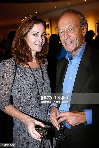 Emilie Freche and Thierry Gaubert attend the Cocktail for the Cinema Award 2014 of Foundation Diane Lucien Barriere given to the movie 'Les...