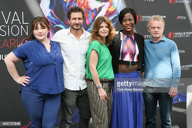 """Emilie Gavois-Kahn, Alexandre Varga, Gwendoline Hamon, Jessy Ugolin and Dominique Pinon attend """"Cassandre"""" Photocall as part of the 56th Monte Carlo..."""