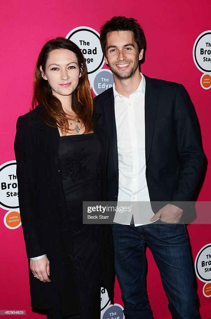 Emilie Germain and Florian Frin attend the opening night of 'An Iliad' at The Eli and Edythe Broad Stage on January 15, 2014 in Santa Monica, California.
