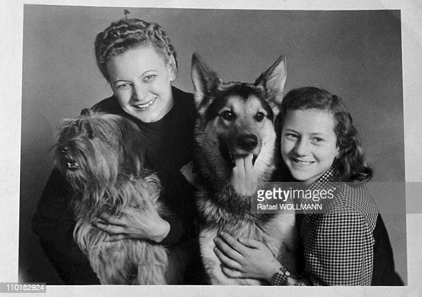 Emilie her dog and a Schindler's niece in Argentina on August 01 1993