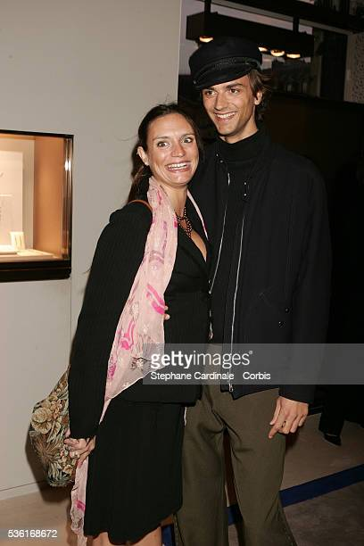 Emilie Jarre and her brother David Jarre attend the exhibition opening of French jewelery house Chaumet titled Napoléon in Love on Place Vendôme in...