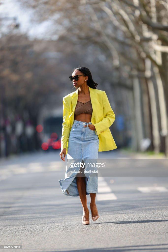 Fashion Photo Session In Paris - February 2021 : Photo d'actualité