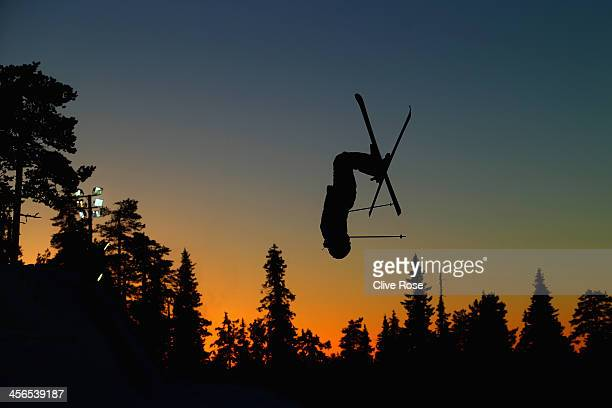 Emilie Klingen Amundsen of Norway competes in the Ladies Moguls qualifying round during the FIS Freestyle Ski World Cup Ruka on December 14 2013 in...