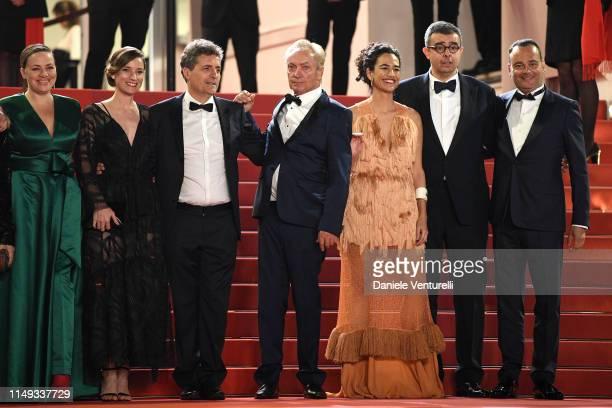 "Emilie Lesclaux, Kleber Mendonça Filho, Saïd Ben Saïd, Udo Kier, Barbara Colen, Saïd Ben Saïd and Juliano Dornelles attend the screening of ""Bacurau""..."