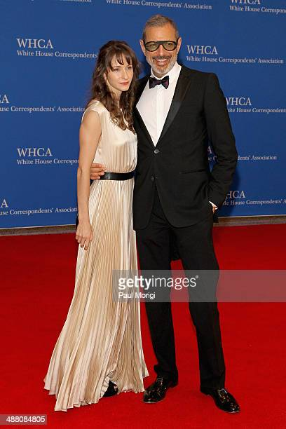 Emilie Livingston and actor Jeff Goldblum attend the 100th Annual White House Correspondents' Association Dinner at the Washington Hilton on May 3...