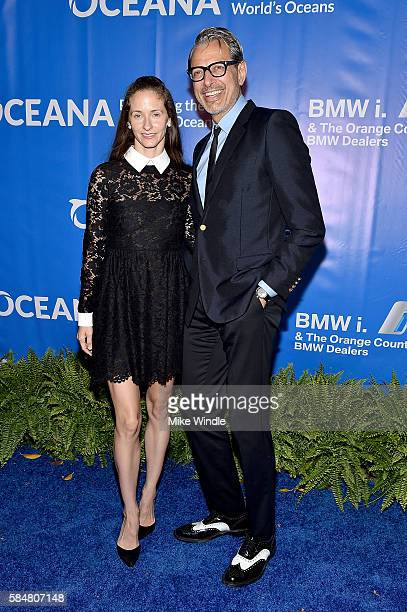 Emilie Livingston and actor Jeff Goldblum attend the 9th annual Oceana SeaChange Summer party on July 30 2016 in Laguna Beach California