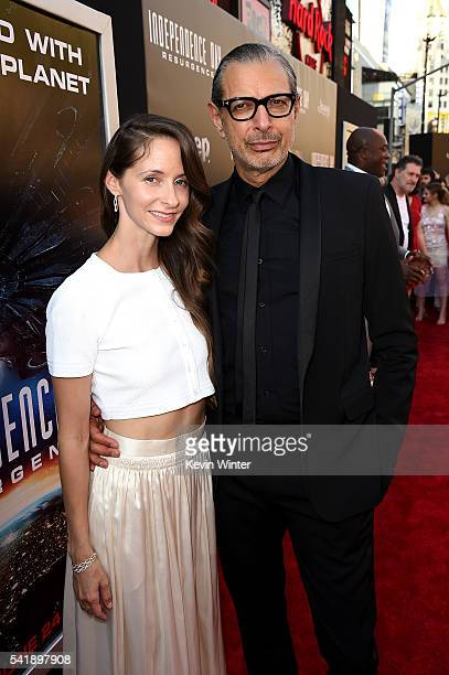 Emilie Livingston and actor Jeff Goldblum attend the premiere of 20th Century Fox's Independence Day Resurgence at TCL Chinese Theatre on June 20...