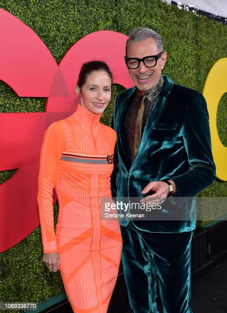 Emilie Livingston and Jeff Goldblum attend the 2018 GQ Men of the Year Party at a private residence on December 6 2018 in Beverly Hills California