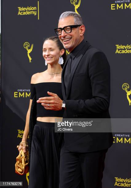 Emilie Livingston and Jeff Goldblum attend the 2019 Creative Arts Emmy Awards on September 14, 2019 in Los Angeles, California.