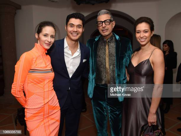Emilie Livingston Henry Golding Jeff Goldblum and Liv Lo attend the 2018 GQ Men of the Year Party at a private residence on December 6 2018 in...