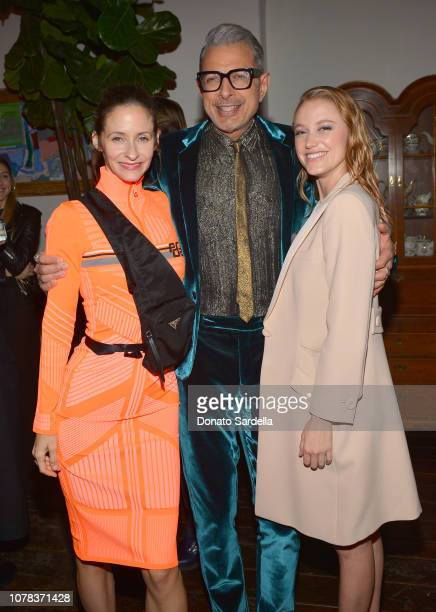 Emilie Livingston, Jeff Goldblum and Maika Monroe attend a private dinner hosted by GQ and Dior in celebration of the 2018 GQ Men Of The Year Party...