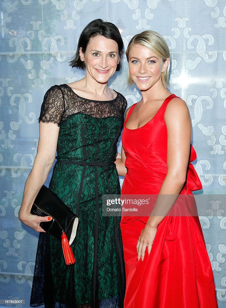 "Emilie Rubinfeld (L) and actress Julianne Hough, wearing Carolina Herrera, attend EIF Women's Cancer Research Fund's 16th Annual ""An Unforgettable Evening"" presented by Saks Fifth Avenue at the Beverly Wilshire Four Seasons Hotel on May 2, 2013 in Beverly Hills, California."