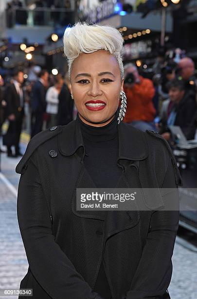 Emilie Sande attends the World Premiere of 'The Girl On The Train' at Odeon Leicester Square on September 20 2016 in London England