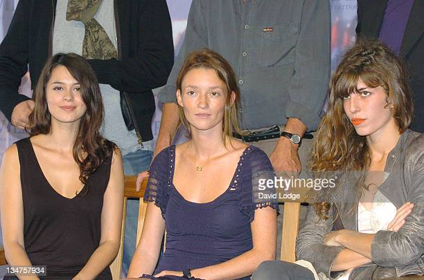 Emilie Simon and Audrey Marnay and Lou Doillon during 32nd Deauville Film Festival 'Jury Revelation' Photocall at Deauville Film Festival in...