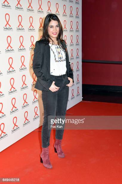 Emilie Tran Nguyen attends the Sidaction 2017 Launch Party Photocall at Musee Branly on March 07 2017 in Paris France