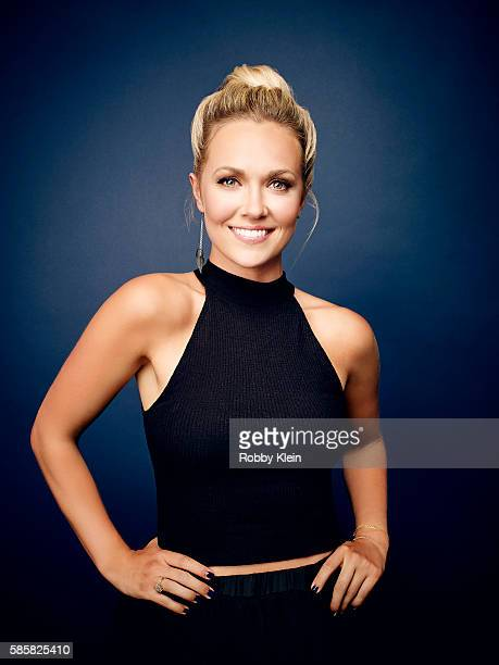 Emilie Ullerup is photographed at the Hallmark Channel Summer 2016 TCA's on July 27 2016 in Los Angeles California