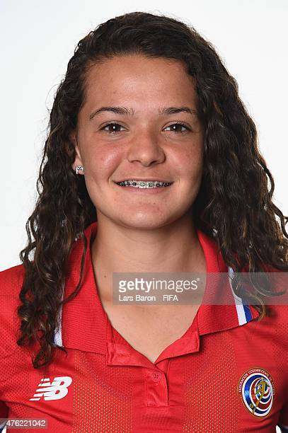 Emilie Valenciano of Costa Rica poses during the FIFA Women's World Cup 2015 portrait session at Sheraton Le Centre on June 6 2015 in Montreal Canada