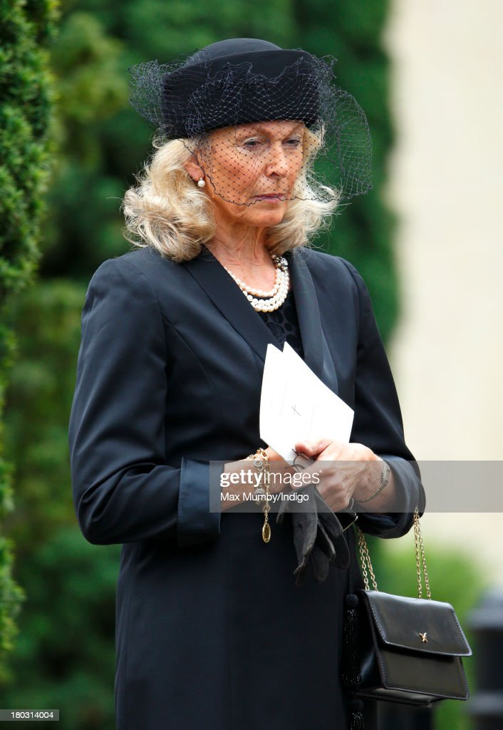 Emilie van Cutsem attends a requiem mass for her husband Hugh van Cutsem who passed away on September 2nd 2013, at Brentwood Cathedral on September 11, 2013 in Brentwood, England.