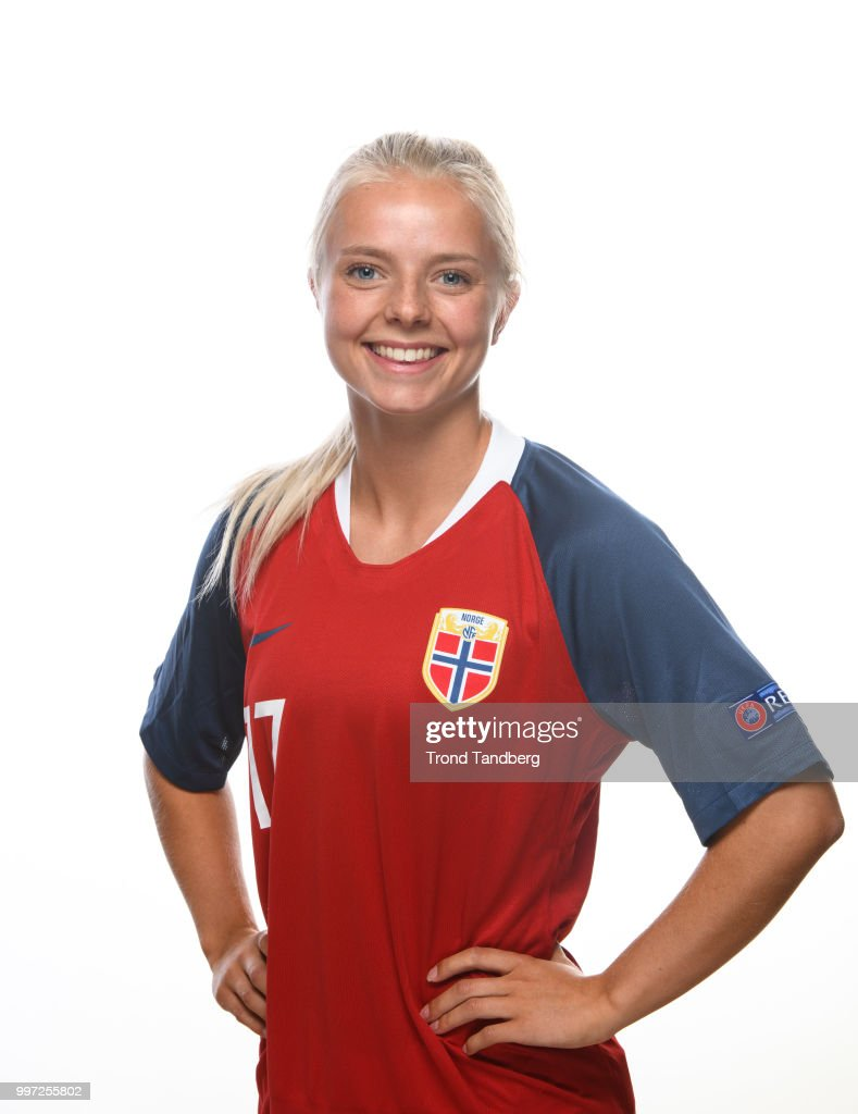 Emilie Woldvik of Norway during J19 Photocall at Thon Arena on July 12, 2018 in Lillestrom, Norway.