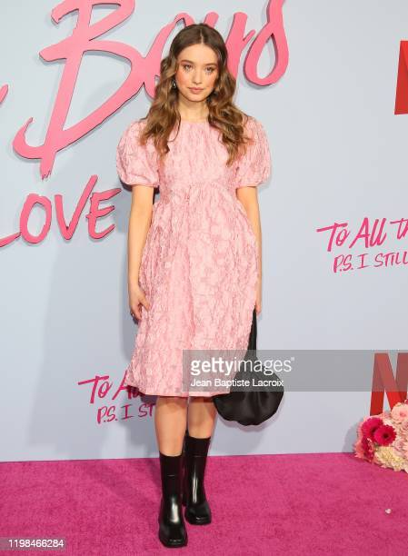 """Emilija Baranac attends the Premiere of Netflix's """"To All The Boys: P.S. I Still Love You"""" at the Egyptian Theatre on February 03, 2020 in Hollywood,..."""