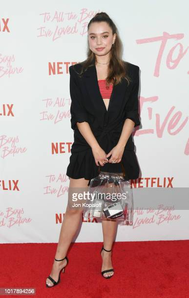 Emilija Baranac attends the screening of Netflix's To All The Boys I've Loved Before at Arclight Cinemas Culver City on August 16 2018 in Culver City...