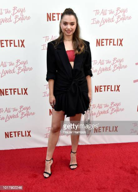 Emilija Baranac attends the Screening Of Netflix's 'To All The Boys I've Loved Before' Arrivals at Arclight Cinemas Culver City on August 16 2018 in...