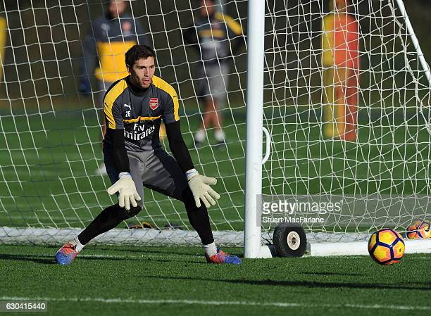 Emilino Martinez of Arsenal during a training session at London Colney on December 22 2016 in St Albans England