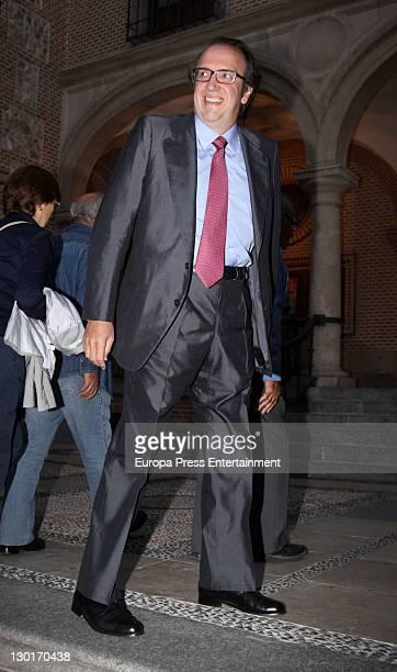 Emilio Alvarez attends Spanish writer Juan Manuel de Prada and Maria Carcaba's wedding at San Gines church on October 22 2011 in Madrid Spain
