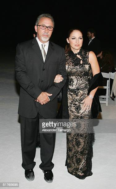 Emilio and Gloria Estefan pose at the City of Hope Spirit of Life Gala on November 18 2004 in South Beach Florida