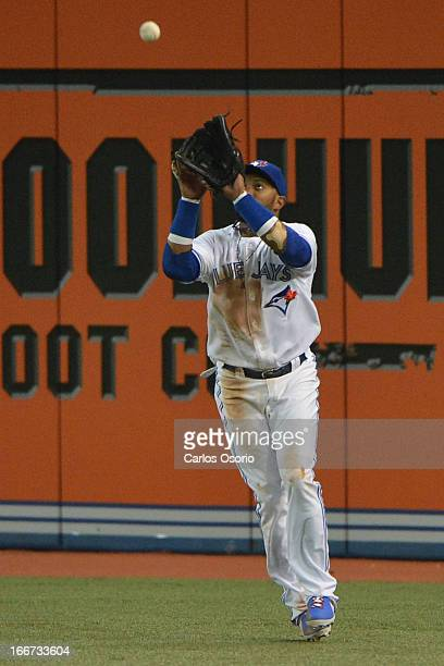 Emilio Bonifacio makes an out in right field in the 7th inning as the Toronto Blue Jays host the Chicago White Sox for and MLB game at the Rogers...