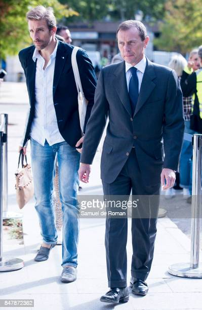 Emilio Butragueno arrives to the Funeral Tribute For Angel Nieto in Madrid on September 16 2017 in Madrid Spain