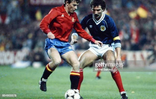 Emilio BUTRAGUENO / Graeme SOUNESS Espagne / Ecosse Qualification Coupe du Monde 1986