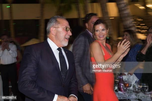 Emilio Estefan Alicia Piazza attend the Haute Living Miami's Annual Haute 100 Dinner Presented By Hublot And Prestige Imports at Miami Design...
