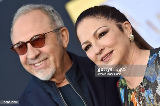 Emilio Estefan and Gloria Estefan attend the premiere of Warner Bros Pictures' 'A Star Is Born' at The Shrine Auditorium on September 24 2018 in Los...