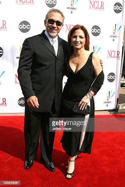 Emilio Estefan and Gloria Estefan during 2006 NCLR ALMA Awards Arrivals at Shrine Auditorium in Los Angeles California United States